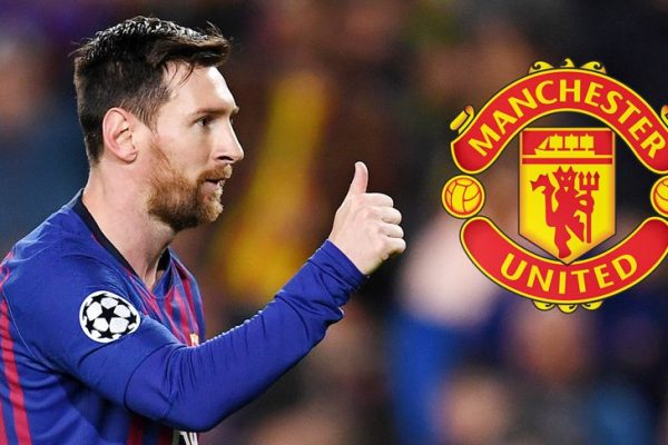 Manchester United try to drop an offer for Messi.